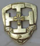 Insigna religioasa?,masonica?,Franta (2,5x 2 cm),metal alb