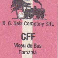 Bilet tren ( Mocanita jud MM) CFF , Viseu de Sus
