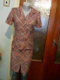 Costum dama roz cu dungi-marimea 36