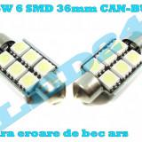 LED-URI AUTO BEC LED C5W C10W SOFIT FESTOON 6 SMD 36 mm CANBUS PLAFONIERA