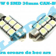 LED-URI AUTO BEC LED C5W C10W SOFIT FESTOON 6 SMD 36 mm CANBUS PLAFONIERA, Universal, Houde