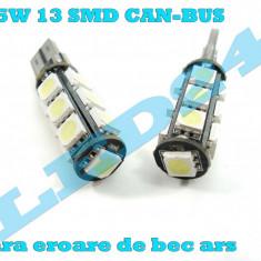 LED-URI AUTO BEC LED - W5W W10W T10 13 SMD CAN-BUS POZITIE, PLAFONIERA, NUMAR - Led auto Houde, Universal