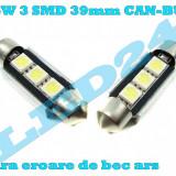 LED-URI AUTO BEC LED C5W C10W SOFIT FESTOON 3 SMD 39 mm CANBUS PLAFONIERA