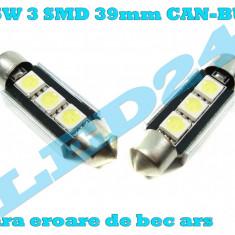 LED-URI AUTO BEC LED C5W C10W SOFIT FESTOON 3 SMD 39 mm CANBUS PLAFONIERA, Universal, Houde
