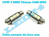 LED-URI AUTO BEC LED C5W C10W SOFIT FESTOON 3 SMD 36 mm CANBUS PLAFONIERA, Universal, Houde