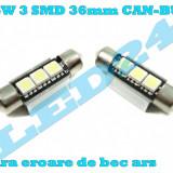 LED-URI AUTO BEC LED C5W C10W SOFIT FESTOON 3 SMD 36 mm CANBUS PLAFONIERA