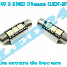 LED-URI AUTO BEC LED C5W C10W SOFIT FESTOON 3 SMD 36 mm CANBUS PLAFONIERA - Led auto Houde, Universal