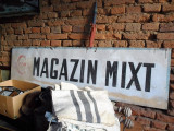Firma veche pe tabla / perioada comunista - MAGAZIN MIXT - COOP