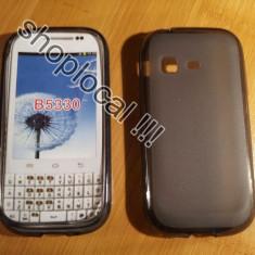 HUSA SAMSUNG GALAXY CHAT B5330 silicon eleganta +folie ** LIVRARE GRATUITA !!! - Husa Telefon Samsung, Maro
