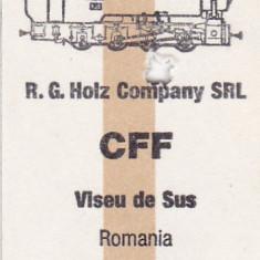 Bilet tren ( Mocanita jud MM) CFF, Viseu de Sus
