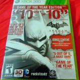 Batman Arkham City GOTY Edition, XBOX360, sigilat, alte sute de jocuri - Jocuri Xbox 360, Actiune, 12+, Single player
