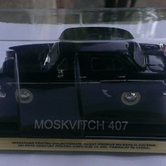 Macheta Moskvitch 407 1957 + revista DeAgostini Masini de Legenda nr.19, 1/43