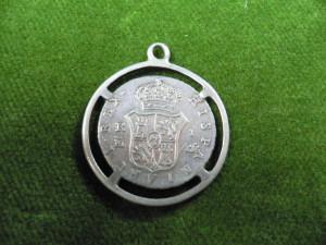 VECHI PANDANTIV DIN  ARGINT -1852 - DIAM. 2,5 CM - GREUT 3,9 GR