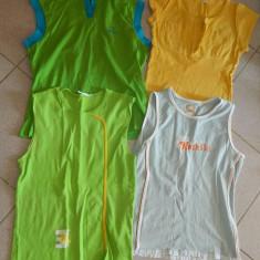 Lot/Set de patru tricouri de dama/fete/adolescente, marimea L, XL la SUPER PRET!, REDUSE ACUM! - Tricou dama, Culoare: Multicolor, Simplu, Fara maneca, Universala, Bumbac