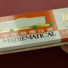 Cutie - penar vintage - Mathematical set A 5008 - din perioada comunista !!! RAR