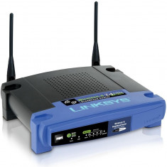 Wireless-G Broadband Router (WRT54GL) - Router wireless Cisco, Porturi LAN: 4, Porturi WAN: 1