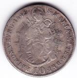 Ungaria Austria 10 Krajczar-Kreuzer 1842 B(Kormoczbanya-Kremnitz),Sf Maria cu Isus in brate,cotatie ridicata
