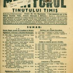 ROMANIA 1940. MONITORUL TINUTULUI TIMIS nr.11 francat 50 bani- CAROL
