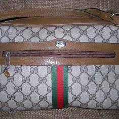 Geanta Originala Gucci - Geanta Dama Gucci, Geanta stil postas, Maro, Piele, Medie