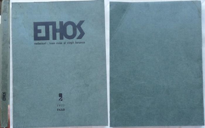 Ethos , revista diasporei , 1975 , M. Vulcanescu , Tomaziu , Eliade in editia 1