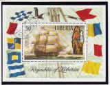 LIBERIA ; COLITA ANIVERSARA VICTORY 1765