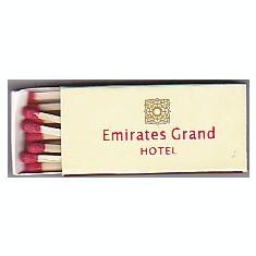 Chibrituri colectie de la Emiurates Grand Hotel Dubai