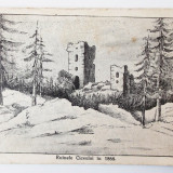 ROMANIA RUINELE CICEULUI IN 1866 - ED. LICEUL DE FETE DEJ necirculata **