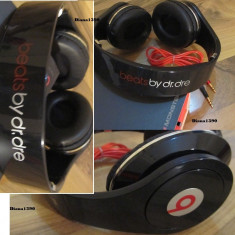 Casti beats monster STUDIO - PROFESIONALE Monster Beats by Dr. Dre, Casti On Ear, Cu fir, Mufa 3, 5mm