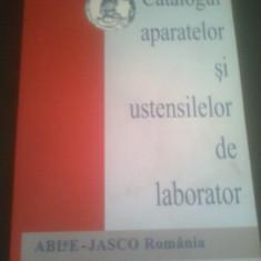 CATALOGUL APARATELOR SI USTENSILELOR DE LABORATOR, 178 PAG, FORMAT MARE, STARE BUNA - Carti Industrie alimentara