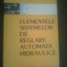 ELEMENTELE SISTEMELOR DE REGLARE AUTOMATA HIDRAULICE DE I.M.KRASSOV, EDITURA TEHNICA 1965, TIRAJ MIC 2110, APROAPE NOUA - Carti Automatica
