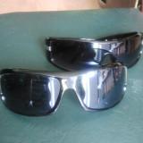 Ochelari de soare (1+1\2 gratis), Unisex, Negru, Dreptunghiulari, Plastic