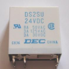 Releu 24 V cu 2 contacte normal deschis ( DS2SU 24VDC )