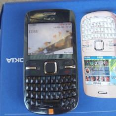 Nokia C3, Albastru, 4GB, Neblocat