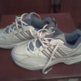 Adidasi Adidas, alb cu albastru, marimea 38 EU