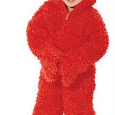 Costumatie carnaval, halloween, Elmo, Sesame Street, marimi diverse - Costum carnaval, Marime: Masura unica, Culoare: Rosu