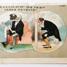 ROMANIA CARICATURA / UMOR / COMICA INAINTE DE ANUL 1904 SCRISA **
