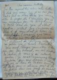 Scrisoare olografa a scriitorului Romulus Vulpescu , in limba franceza