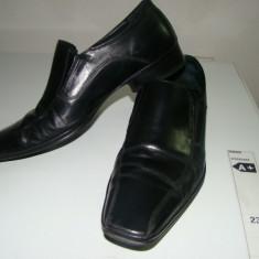 Incaltaminte barbati calitate, stare buna, pantofi, piele - Pantof barbat, Marime: 41, Piele naturala, Negru
