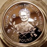 5.200 GUERNSEY QUEEN ELIZABETH ONE POUND 1995 PROOF ARGINT 9,5g, Europa