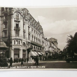 ROMANIA BUCURESTI BULEVARDUL ELISABETA SI HOTEL PALACE ANUL 1929 ANIMATA **