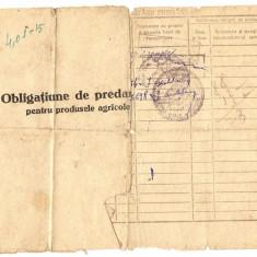 OBLIGATIUNE DE PREDARE - Pasaport/Document