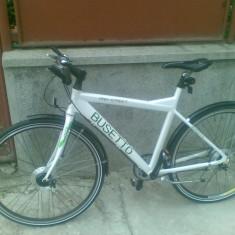 Bicicleta busetto - Bicicleta de oras, 20 inch, Numar viteze: 7, Aluminiu, Alb
