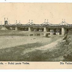 2605 - Teleorman, ALEXANDRIA, podul peste Vedea - old postcard - unused - Carte Postala Muntenia 1904-1918, Necirculata, Printata