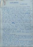 Concert extraordinar , Nuvela ; Manuscris olograf Romulus Vulpescu , 3 foi ,1961