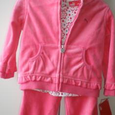 Trening fetita 3 piese NOU Puma original 18 luni, Culoare: Roz