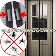 210 x 100 cm PERDEA MINUNE PLASA ANTI INSECTE TANTARI MUSTE MAGIC MESH DUBLA - Plasa insecte