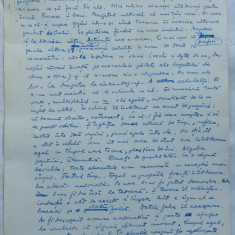 Evocarea, Nuvela ; Manuscris olograf al lui Romulus Vulpescu, 6 foi, semnat si datat 17 Ianuarie 1961 - Pliant Meniu Reclama tiparita