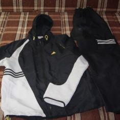 Trening Adidas original Negru Gri Vernil marime L - Trening barbati Adidas, L