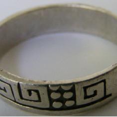 Verigheta barbateasca veche din argint frumos decorata