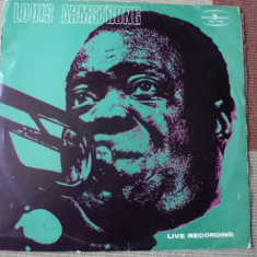 Louis ARMSTRONG Live recordings disc vinyl lp muzica blues jazz 1974 poland - Muzica Jazz, VINIL